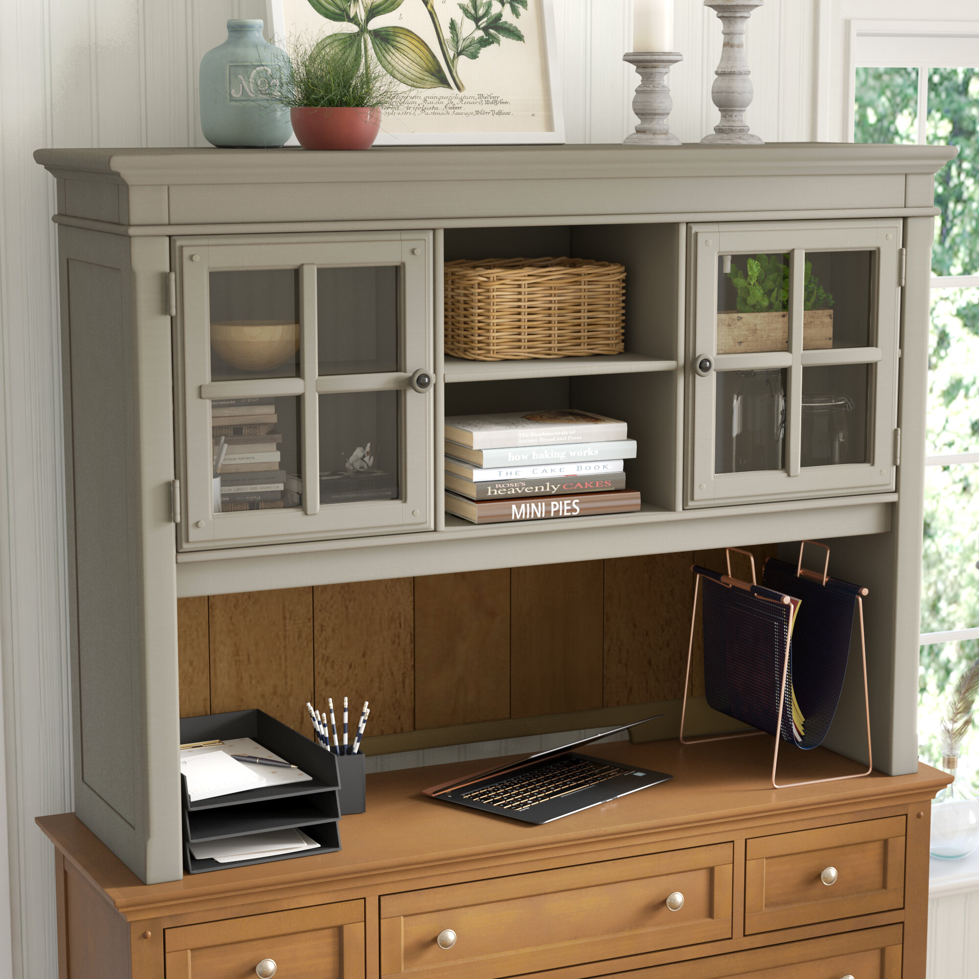 desk furnishings mercantile boulevard hutch home b products and item number hammary
