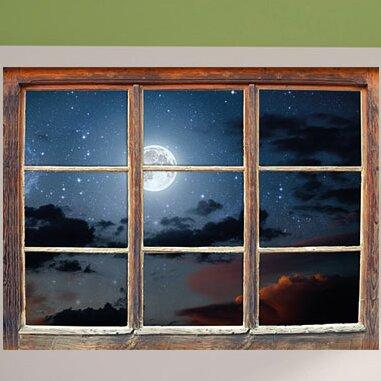 Home Loft Concept Wandtattoo Leuchtender Mond Am Nachthimmel