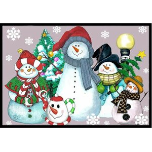 Snowman Collection For the Holidays Doormat