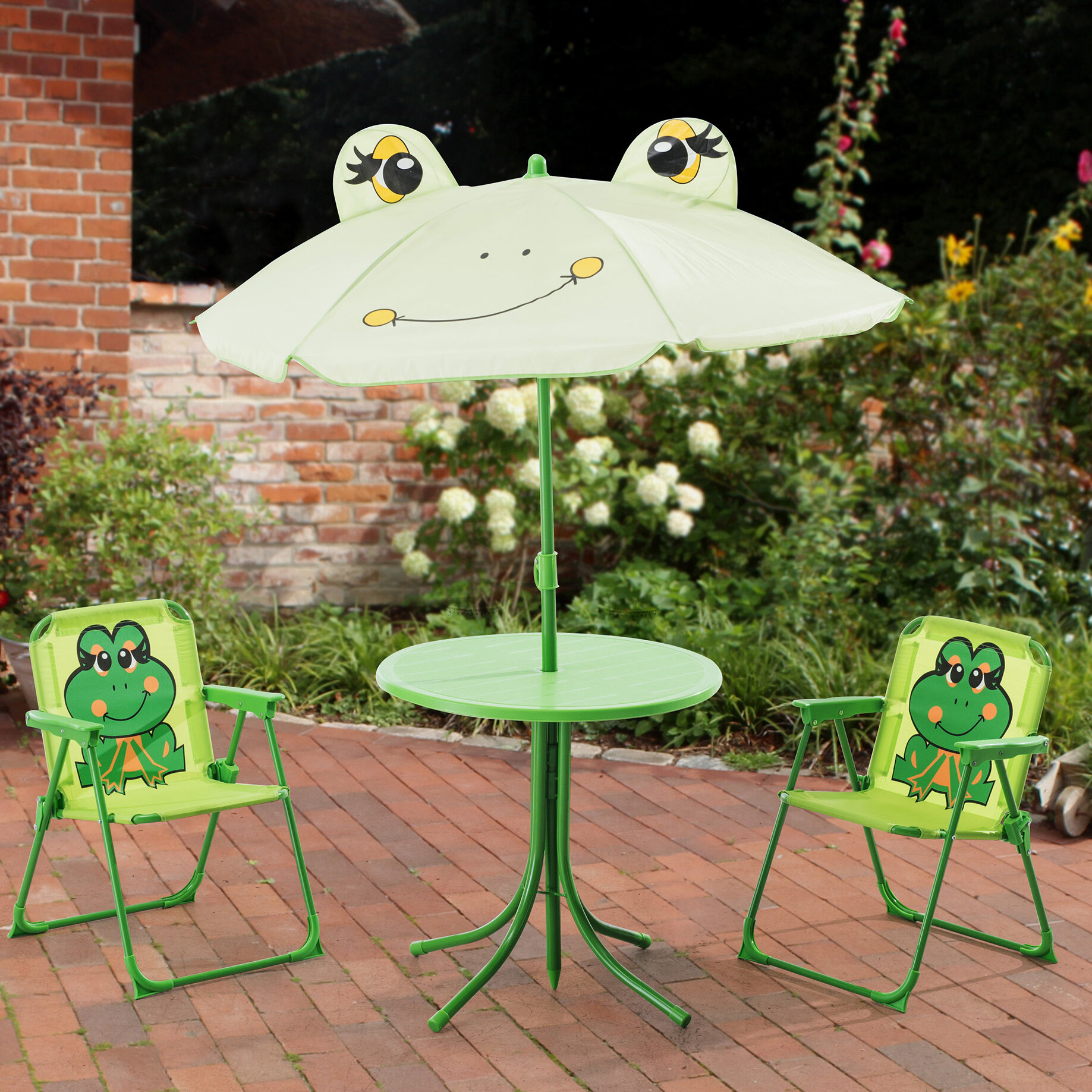 Zoomie Kids Myah Frog Kids 4 Piece Writing Table and Chair Set   Wayfair