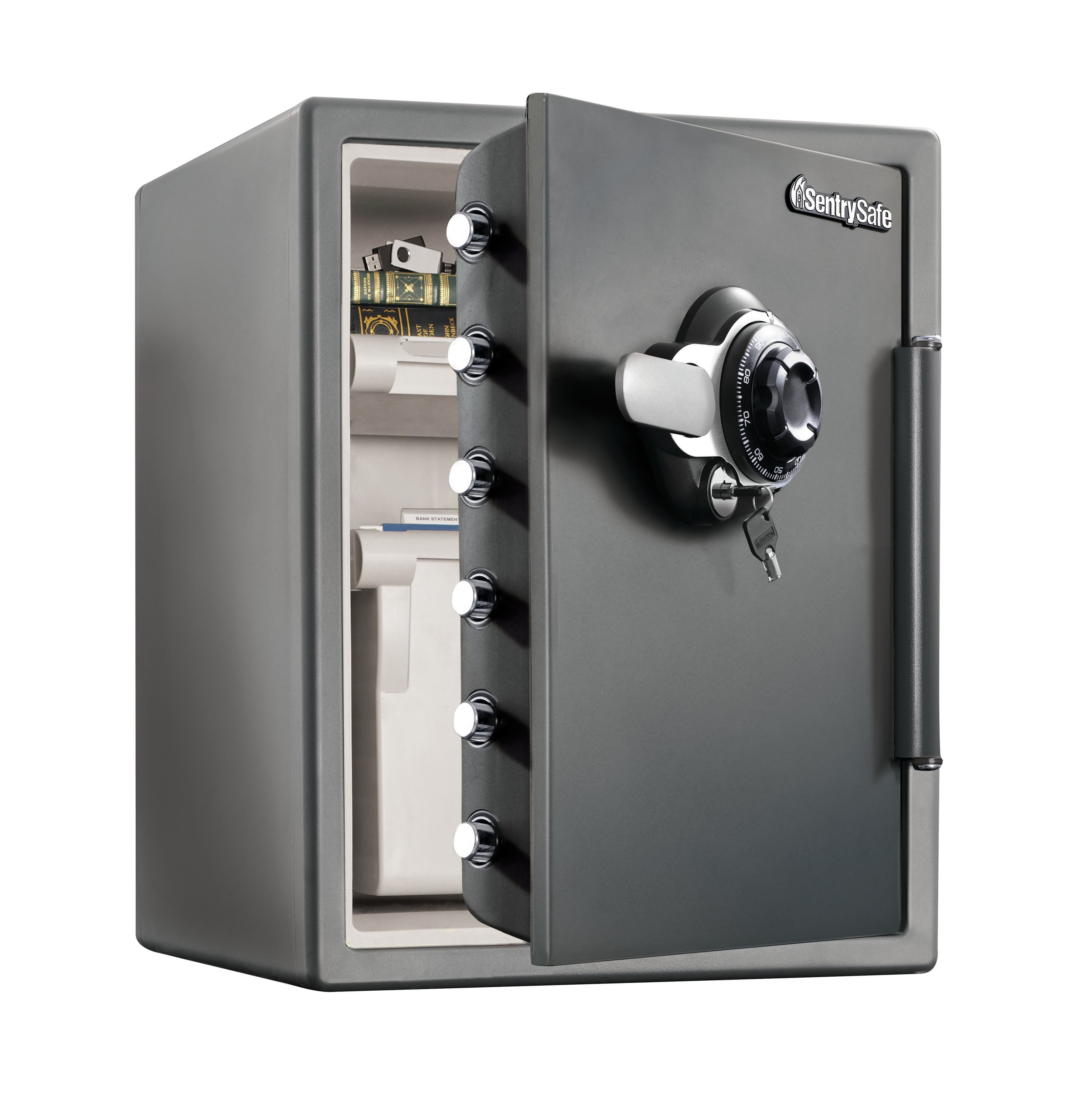 Sentrysafe Water Resistant Combination File Safe With Dial