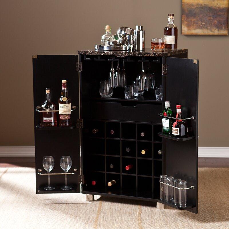 Attrayant Oldsmar Bar Cabinet With Wine Storage