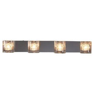 Modern contemporary bathroom light bar allmodern artemisia 4 light bath bar aloadofball Images