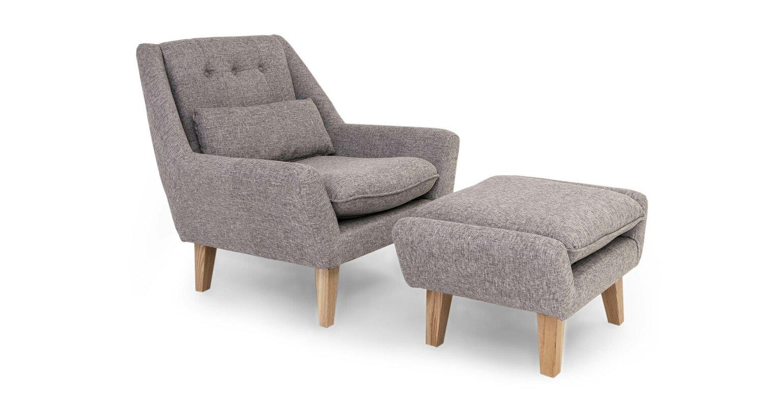 Stuart Lounge Chair and Ottoman