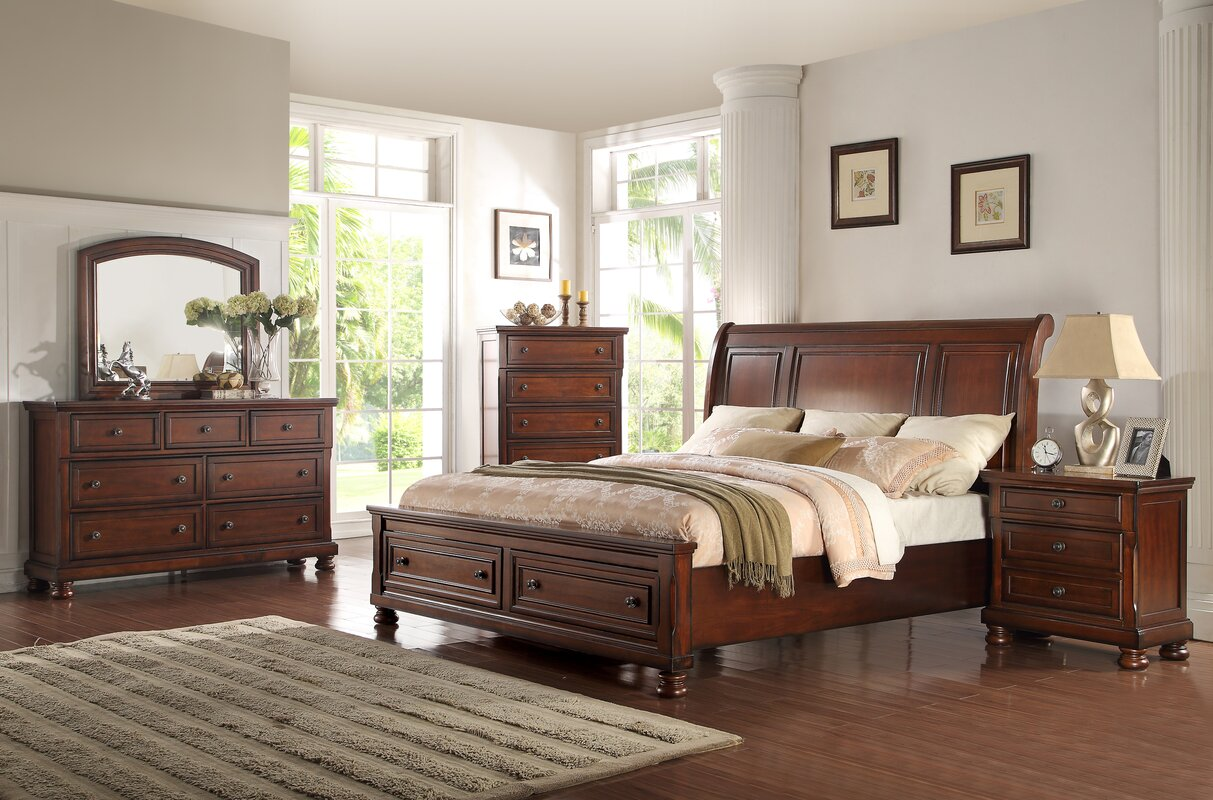 Three Posts Yately Queen Panel 4 Piece Bedroom Set & Reviews