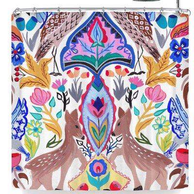 Agnes Schugardt Symmetric Folk Shower Curtain