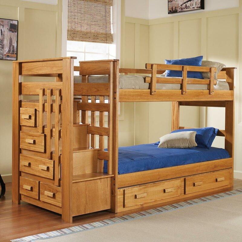 Wonderful Twin Bunk Beds With Storage Part - 5: Twin Bunk Bed With Storage