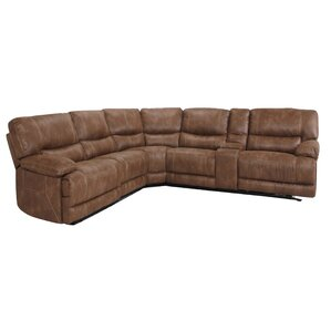 Microsuede Reclining Sectional by LYKE Home