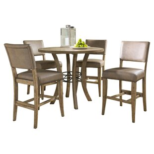 Rude 5 Piece Round Counter Height Dining Set
