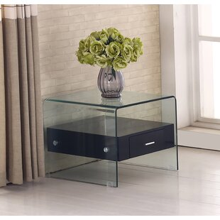 Glass Top End Table | Wayfair