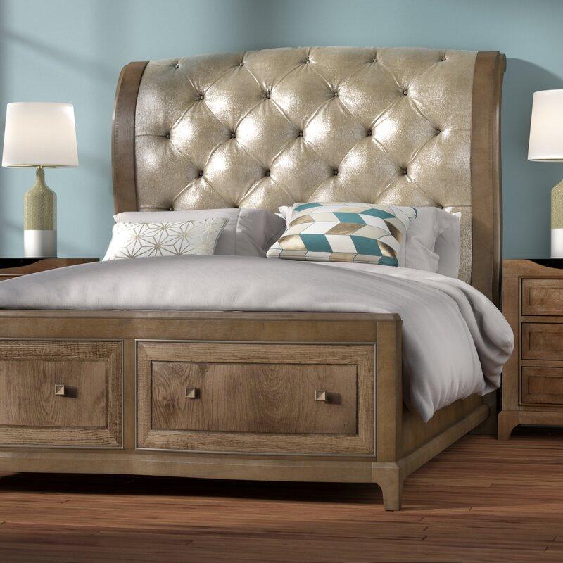 Willa Arlo Interiors Alcalde Upholstered Storage Sleigh Bed ...