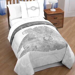 Classic Falcon Star Wars Reversible Comforter Set