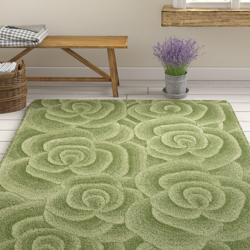 Charlton Home Travis Hand Tufted Green Area Rug Amp Reviews