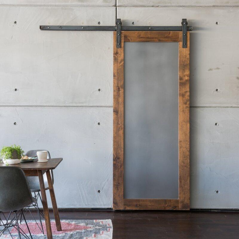 Paneled Wood And Metal Sliding Barn Door Without Installation Hardware Kit