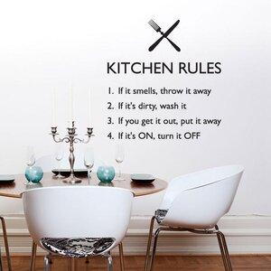 Kitchen Rules Decal Vinyl Wall Sticker