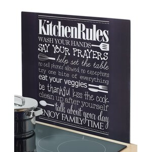 Kitchen Rules Glass Cutting Board