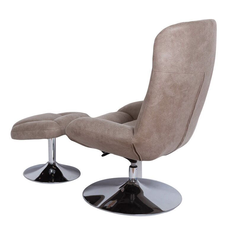 Haverty Swivel Lounge Chair And Ottoma