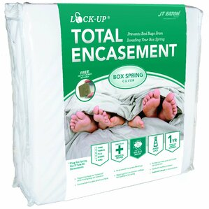 Lock-Up Total Encasement Box Spring Bed Bug Hypoallergenic Waterproof Mattress Protector (Set of 6) by JT Eaton