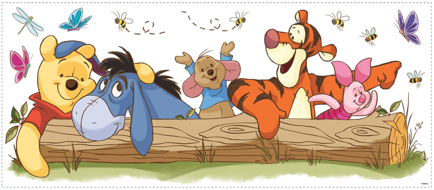 Winnie The Pooh Outdoor Fun Giant Wall Decal Part 23