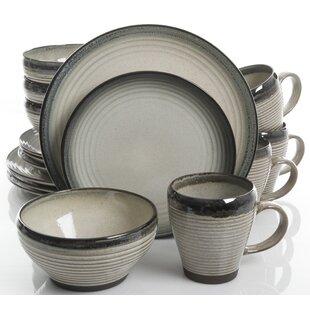 Kelsi 16 Piece Dinnerware Set Service for 4  sc 1 st  Wayfair & Terracotta Dinnerware | Wayfair