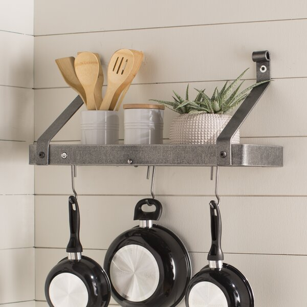 Wall Hanging Pot Rack enclume usa handcrafted gourmet wall mounted pot rack & reviews