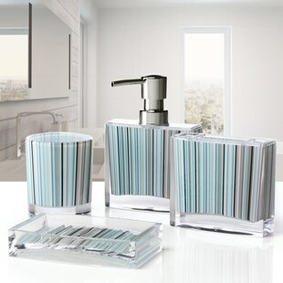 Iced 4 Piece Bathroom Accessory Set