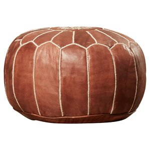 tamara leather pouf