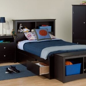 Delightful Twin Storage Platform Configurable Bedroom Set