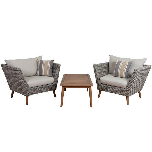 Newbury 3 Piece Conversation Set With Cushions & Reviews