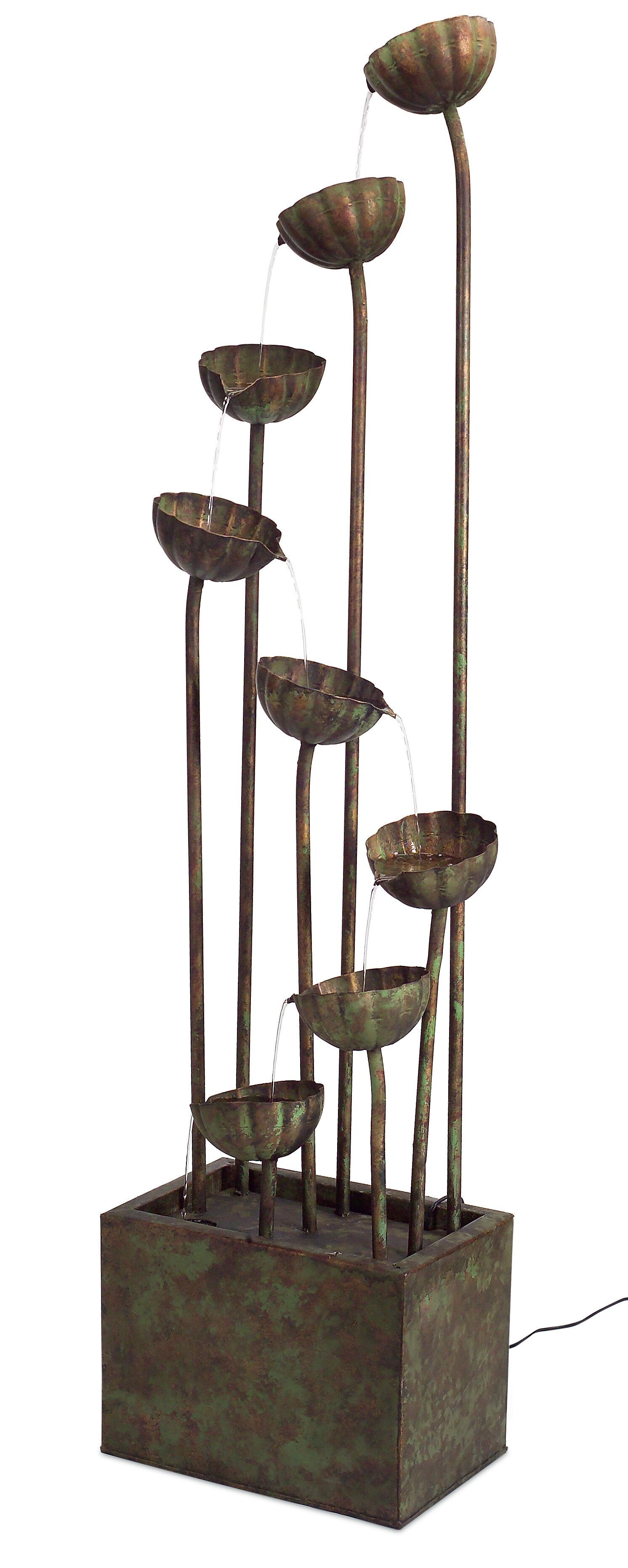 Melrose intl metal flower fountain reviews wayfair izmirmasajfo