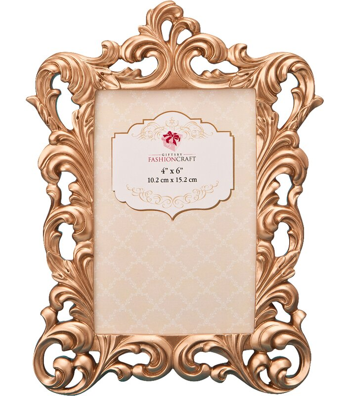 FashionCraft Rose Gold Baroque Picture Frame & Reviews | Wayfair