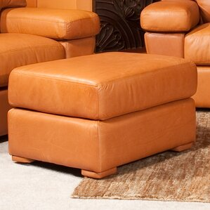 Prescott Leather Ottoman by Omnia Leather