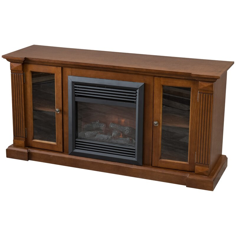 Charlton Home Domingues Entertainment Console Electric Fireplace
