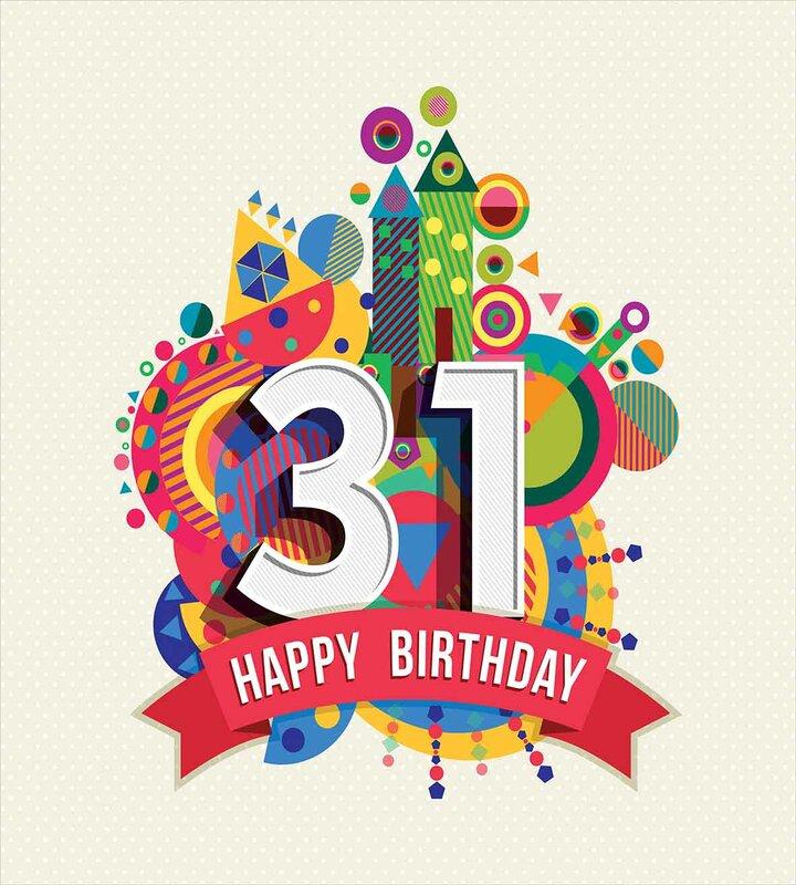 31st Birthday Decorations 4490