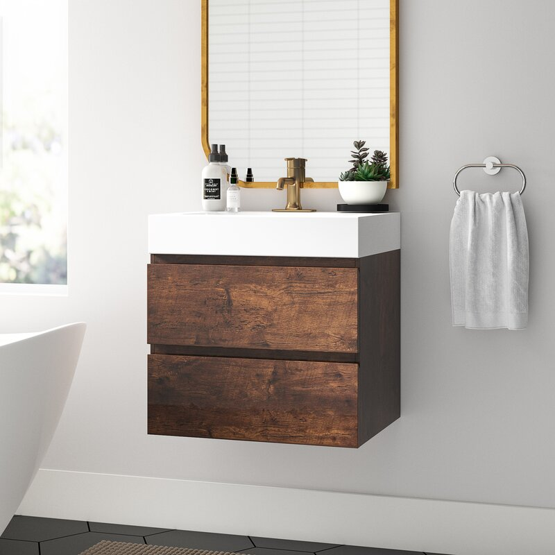 Sinope 24 Wall Mounted Single Bathroom Vanity Set
