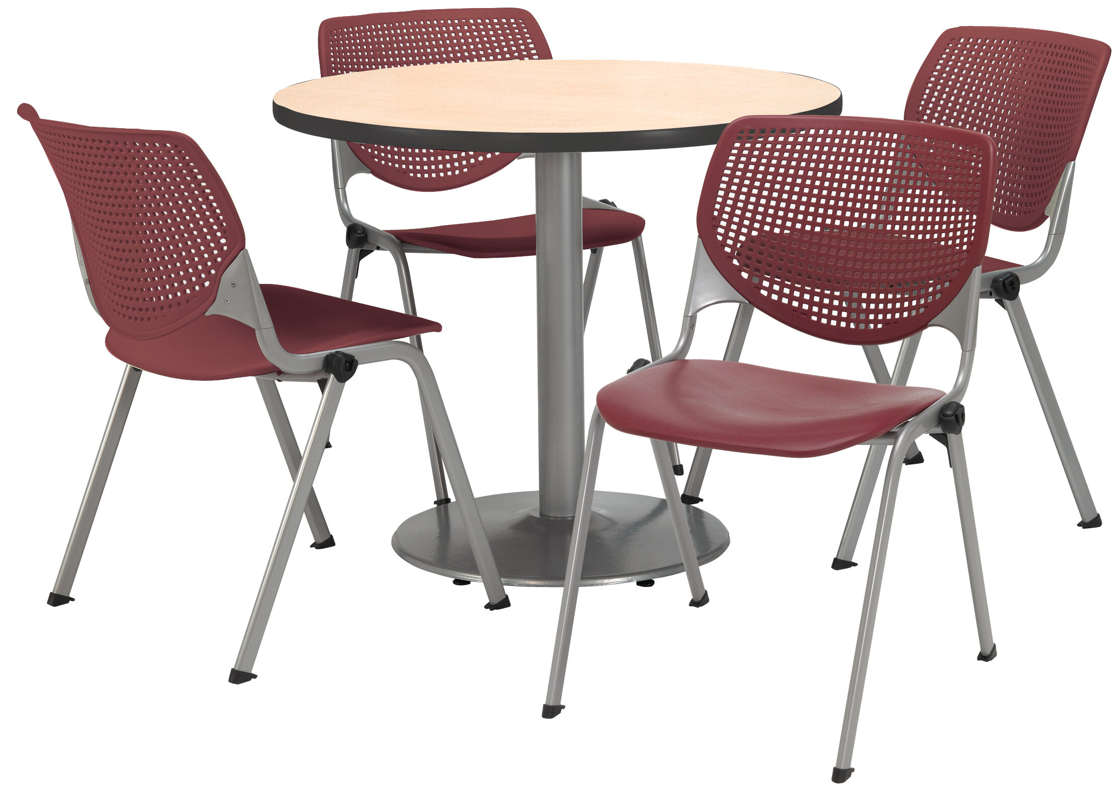KFI Seating Round Cafeteria Table And Chair Set | Wayfair