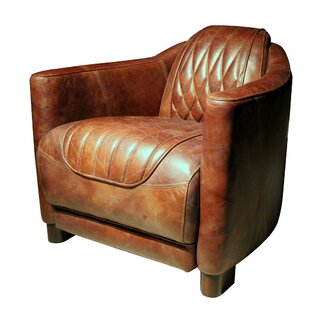 Chum Top Grain Leather Club Chair