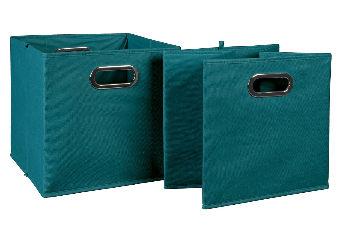 Contemporary Foldable Fabric Storage Tote