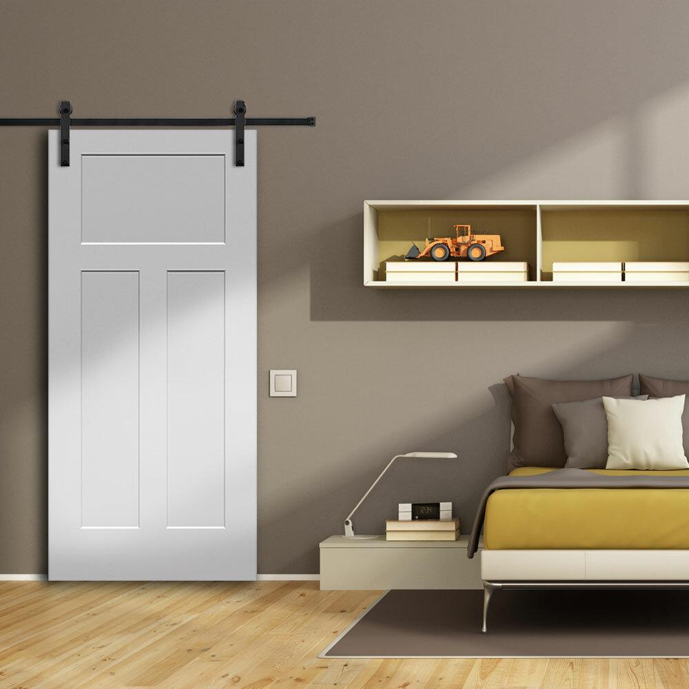 Verona Home Design Craftsman MDF 3 Panel Primed Interior