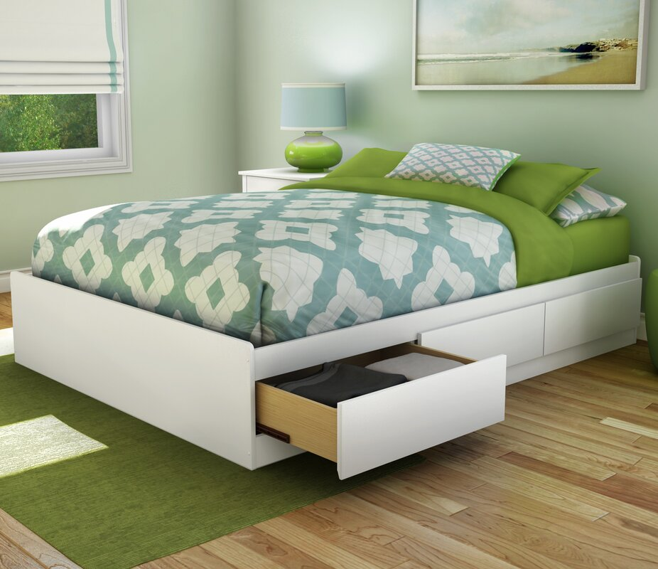 South Shore Step One Contemporary King Platform Bed