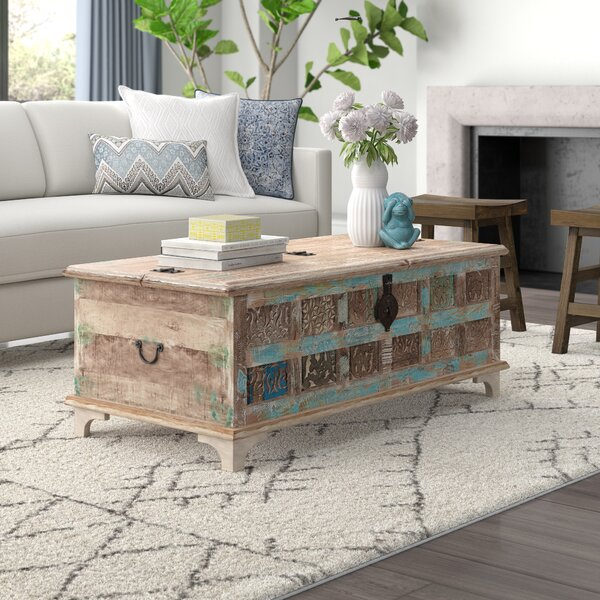 World Menagerie Bodella Coffee Table With Storage Reviews Wayfair