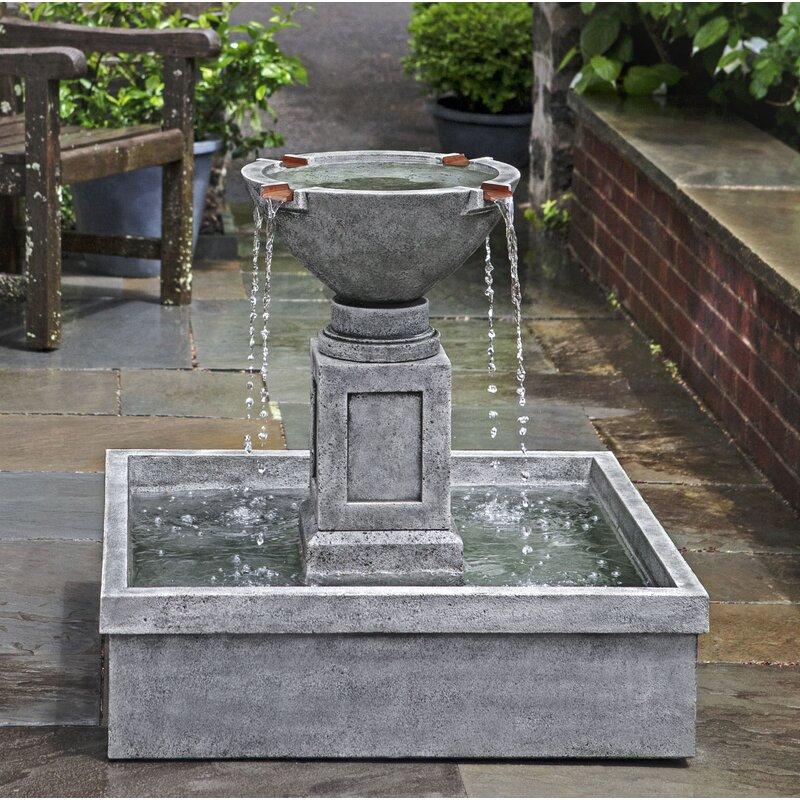 Campania International, IncRittenhouse Concrete Garden Terrace Fountain