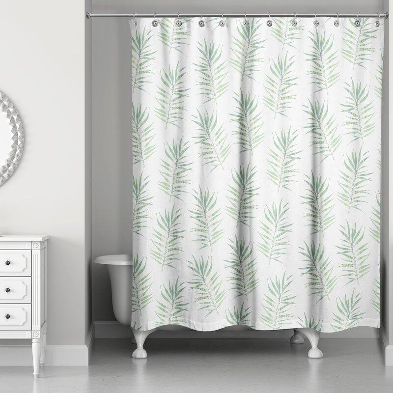Risha Palm Leaf Shower Curtain