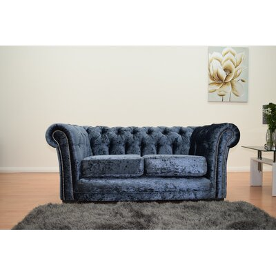 chesterfield sofas polsterfarbe blau. Black Bedroom Furniture Sets. Home Design Ideas