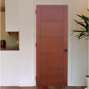 Delicieux Contemporary 5 Panel Prefinished Hollow Flush Wood Interior Swinging Door