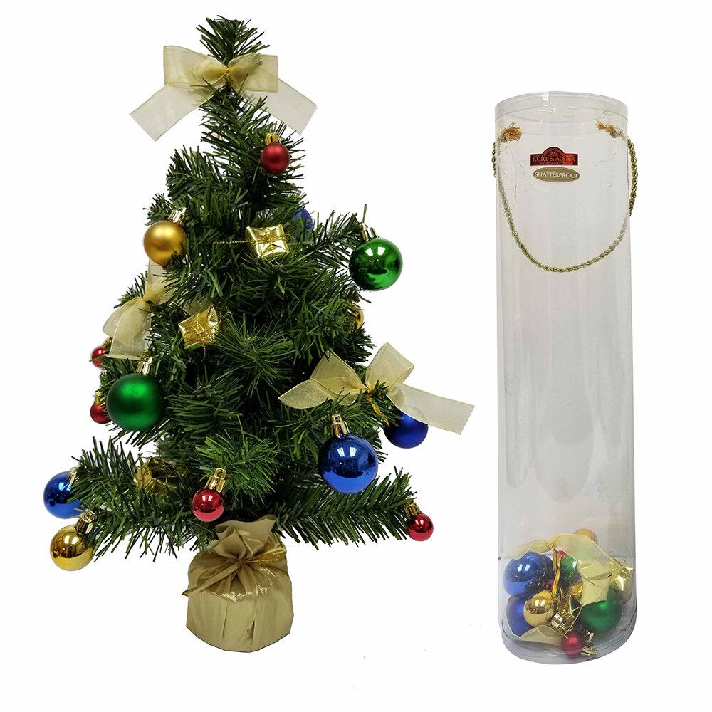 Kurt Adler Green Artificial Christmas Tree With Decoration Kit Wayfair
