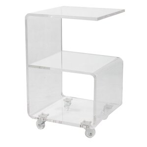 Caylee Acrylic G Shape End Table