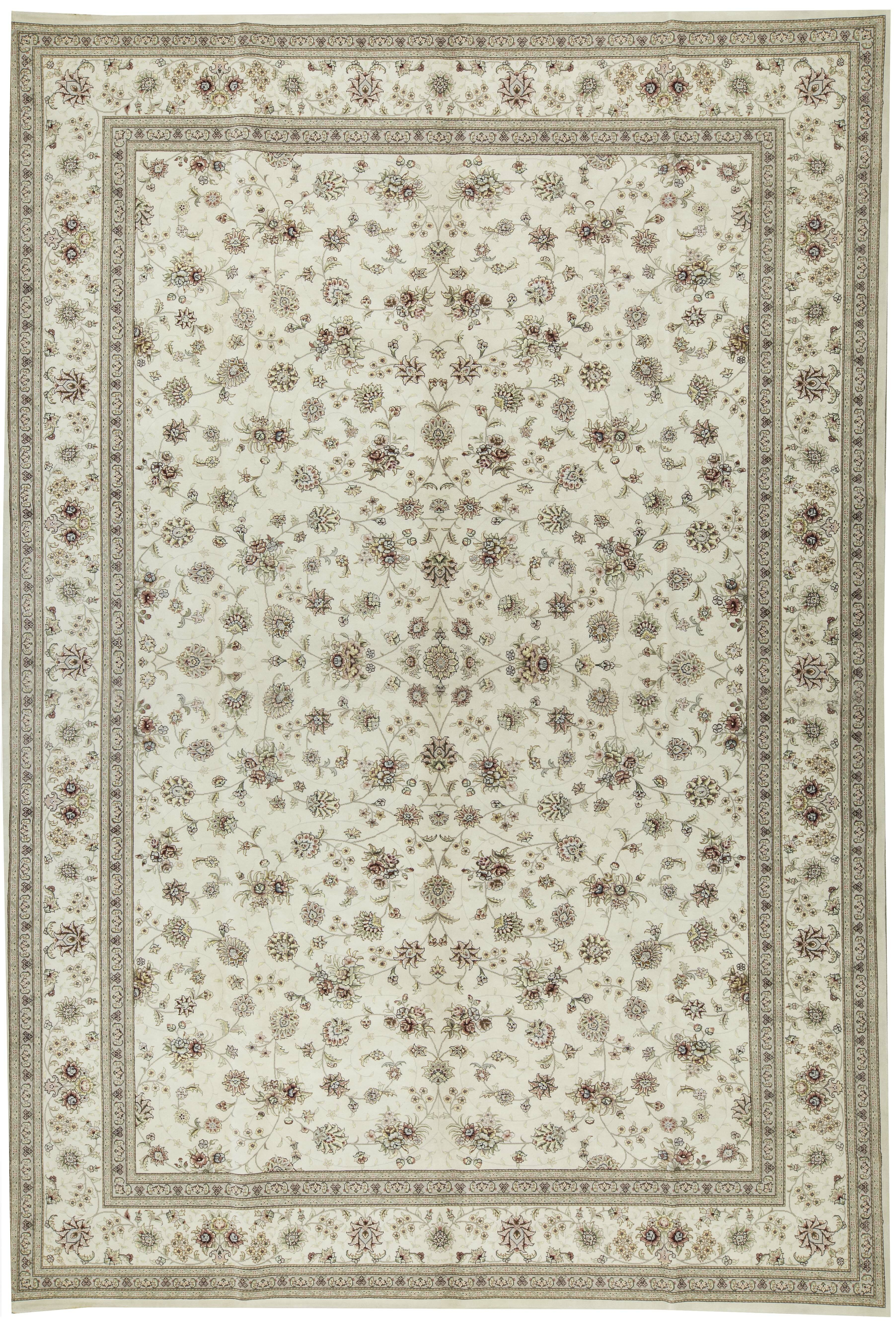One Of A Kind Elegance Handwoven 12 X 18 Wool Silk Gray Area Rug