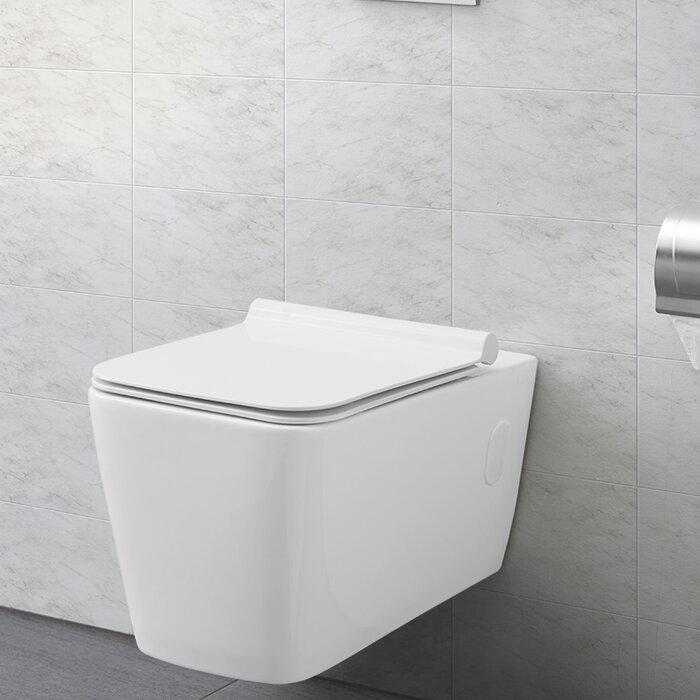 Toilette allongée au mur à double chasse concorde (siège inclus)