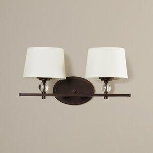 Bathroom Vanity Lighting Oil Rubbed Bronze oil rubbed bronze bathroom vanity lighting | wayfair